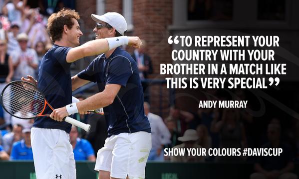 «Представлять свою страну вместе с братом в таком матче — это особенное чувство», — сказал Энди Маррей.