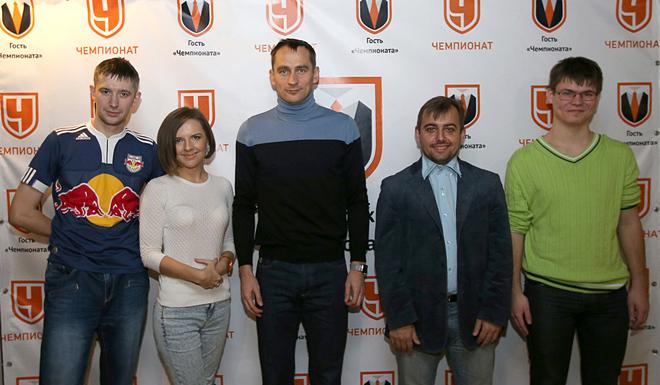 Михаил Тяпков, Галина Козлова, Сергей Рыжиков, Денис Целых и Алексей Дубровин