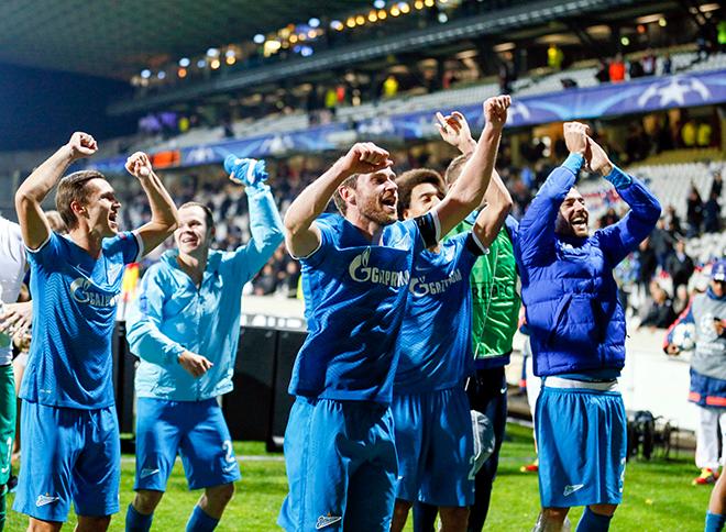 «Зенит» вышел в плей-офф Лиги чемпионов