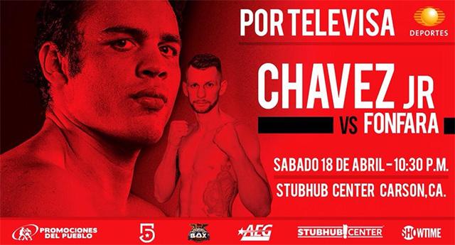 Постер к бою Чавес — Фонфара