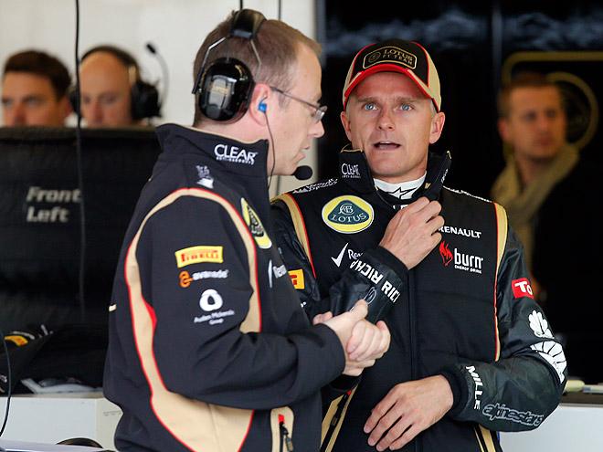Ковалайнен и его гоночный инженер Марк Слейд