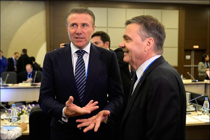 Рене Фазель (справа) и Сергей Бубка в Сочи