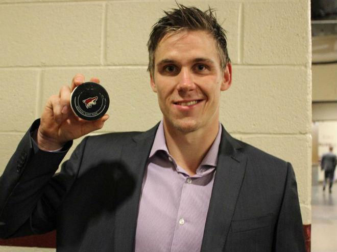 Нападающий «Сент-Луиса» Йори Лехтеря забросил первую шайбу в НХЛ