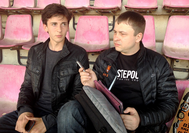 Амир Натхо и обозреватель «Чемпионата» Олег Лысенко