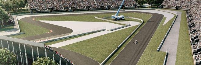 Фрагмент трассы Формулы-1 в Мексике