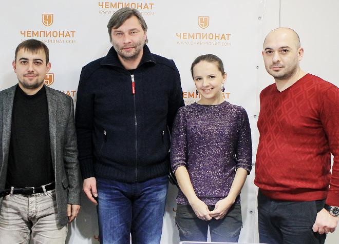 Денис Целых, Сергей Овчинников, Галина Козлова и Самвел Авакян