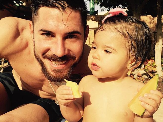 Хави Гарсия с дочерью Амалией