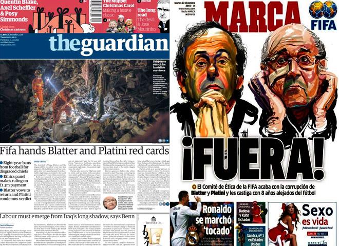 Отстранение Блаттера и Платини в обзоре зарубежных СМИ