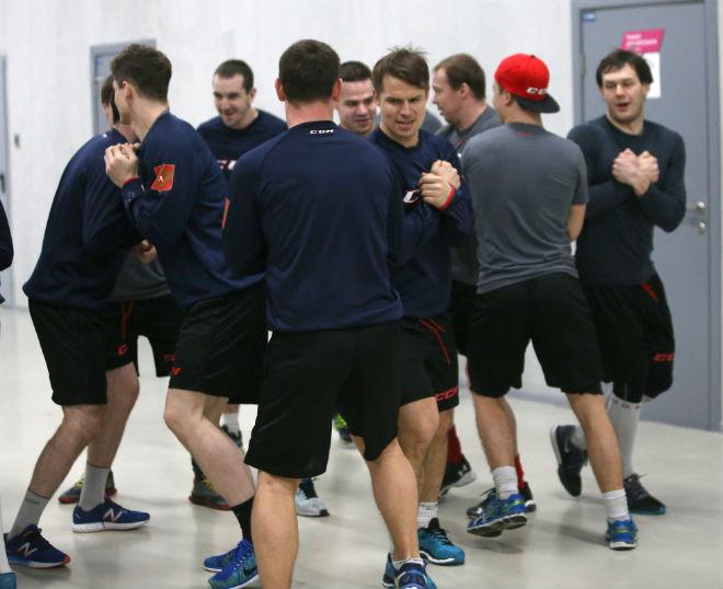 Дружеские потолкушки игроков сборной России