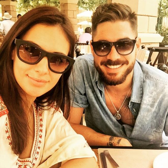 Хави Гарсия с супругой