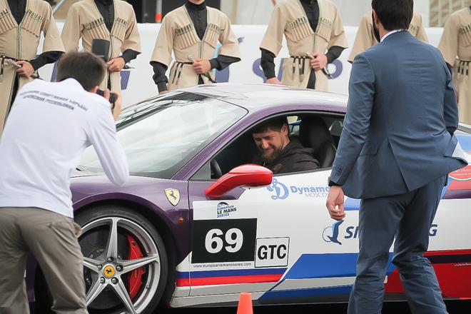 Рамзан Кадыров за рулём