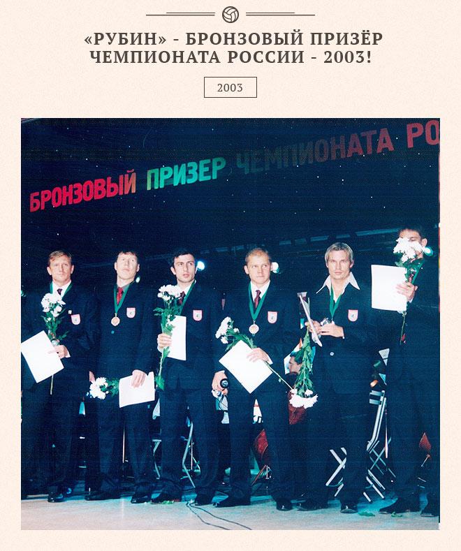«Рубин» — бронзовый призёр чемпионата России – 2003