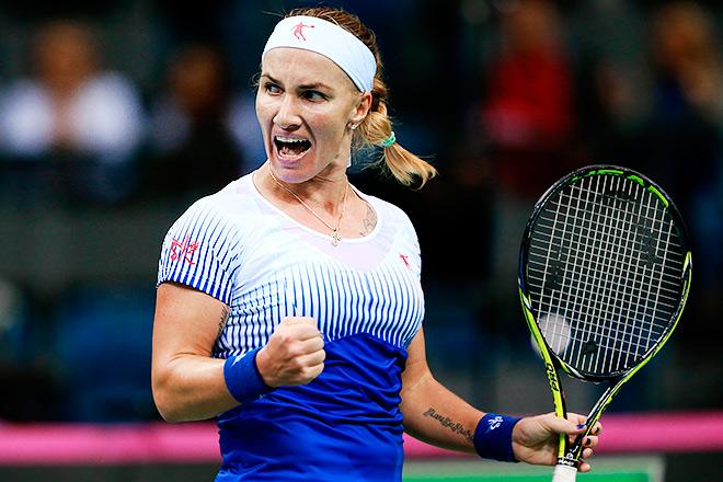 Светлана победила Агнешку в стартовом матче Кубка Федерации