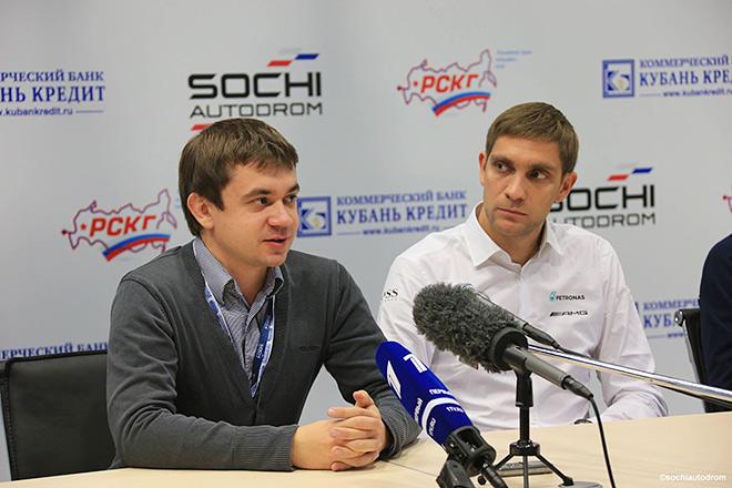 Сергей Воробьёв и Виталий Петров на пресс-конференции