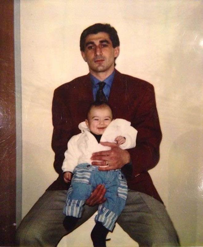 Ахрик Цвейба с сыном