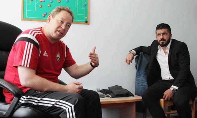 Леонид Слуцкий и Дженнаро Гаттузо