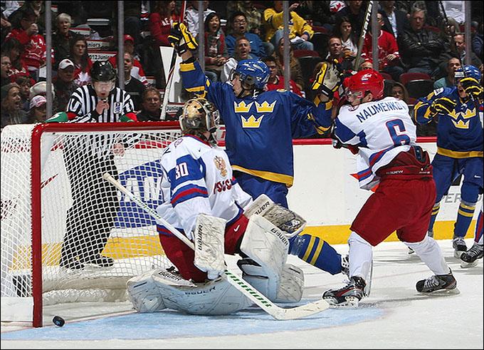 1 января 2012 года. Квебек. Молодежный чемпионат мира. Групповой этап. Россия — Швеция — 3:4