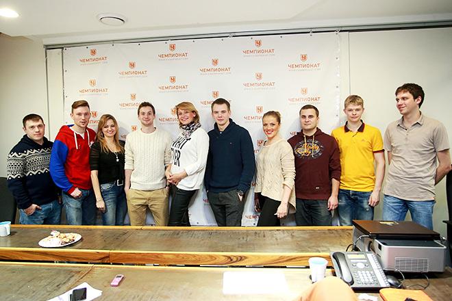 Актёры сериала «Молодёжка» и журналисты «Чемпионата»