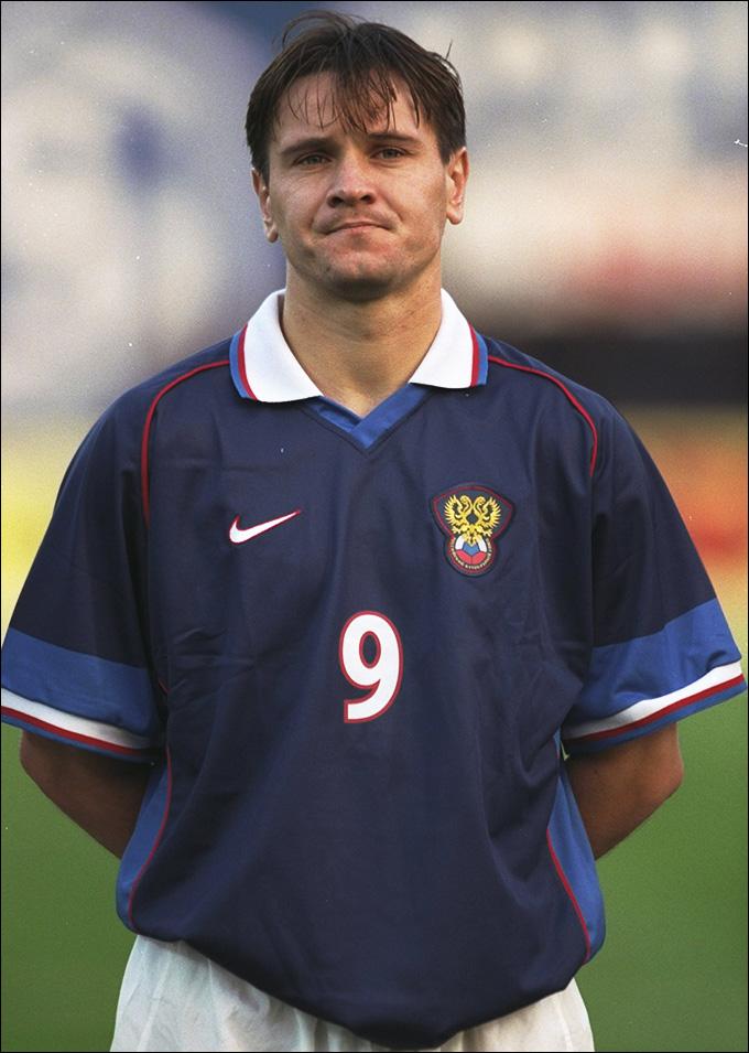 Дмитрий Аленичев в первой форме сборной, предоставленной Nike
