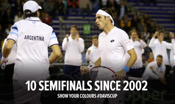 Аргентина в десятый раз с 2002 года вышла в полуфинал Кубка Дэвиса!