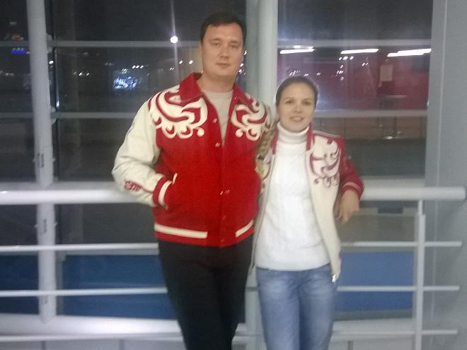 Дмитрий и Людмила поддерживают в Сочи Юлию Липницкую