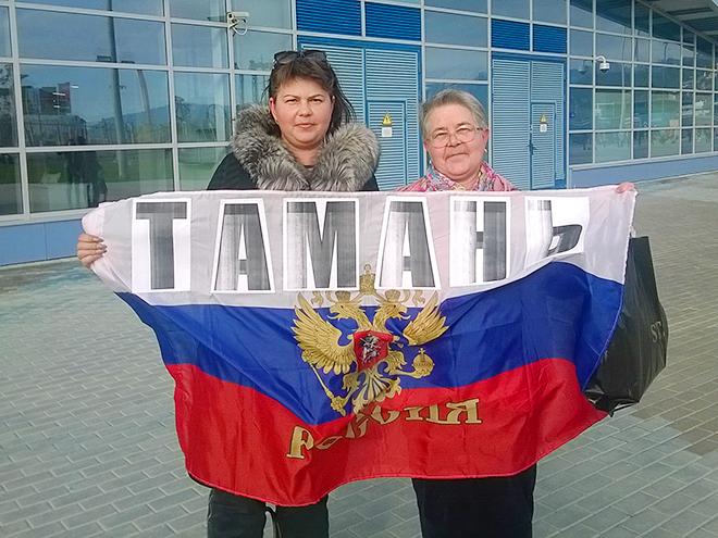 Светлана и Ольга болеют за Аделину Сотникову