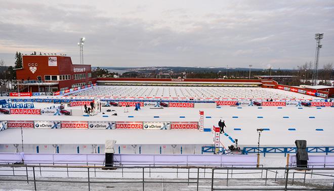 Стрельбище биатлонного стадиона в Эстерсунде