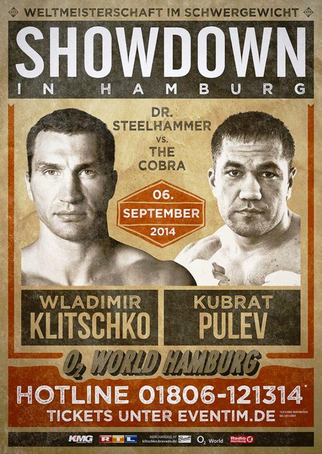 Постер к бою Кличко — Пулев