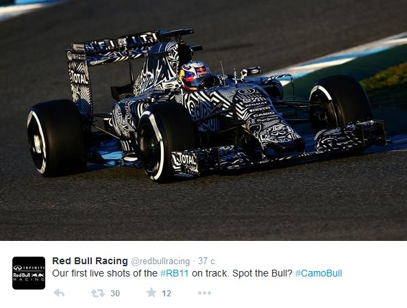 Red Bull RB11 на трассе