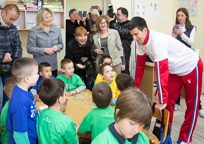 Новак Джокович встретился со школьниками