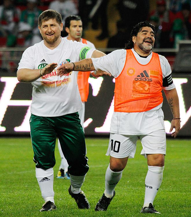 Рамзан Кадыров и Диего Марадона