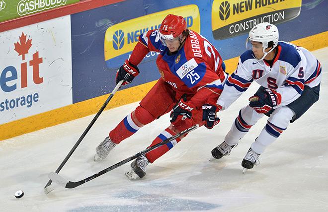 Александр Дергачёв в игре против США