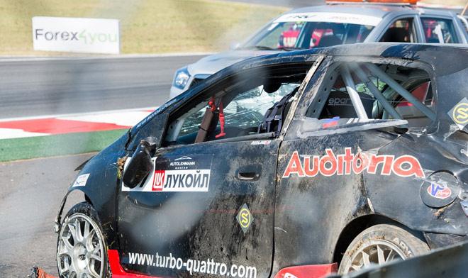 Авария, жертвой которой стала Honda Яшина, стала самым ярким эпизодом Этапа-2014