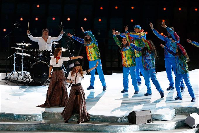 Тату на открытие олимпиады