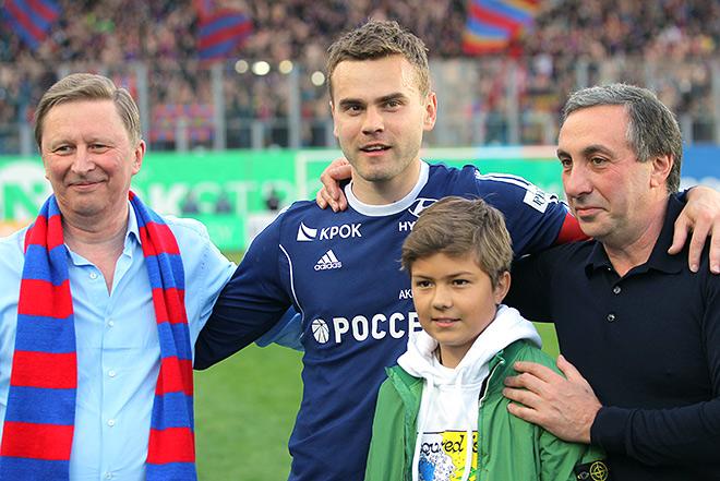 Сергей Иванов с Игорем Акинфеевым и Евгением Гинером