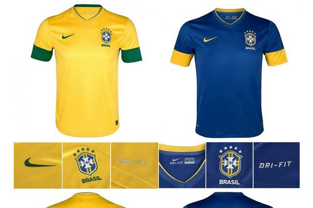 Неймар и Гансо презентовали новую форму сборной Бразилии.
