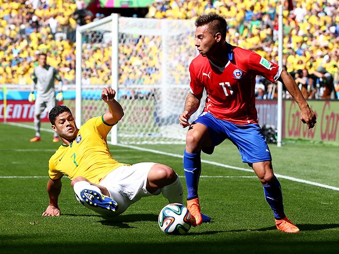 ЧМ-2014. 1/8 финала. Бразилия – Чили (итог) [Футбол]