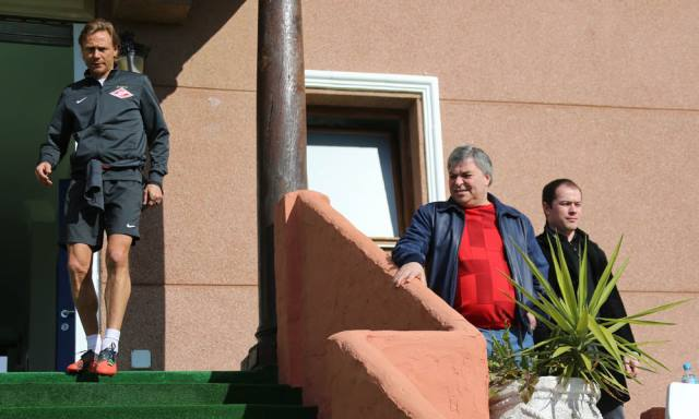 Валерий Карпин, Джеван Челоянц и Роман Асхабадзе