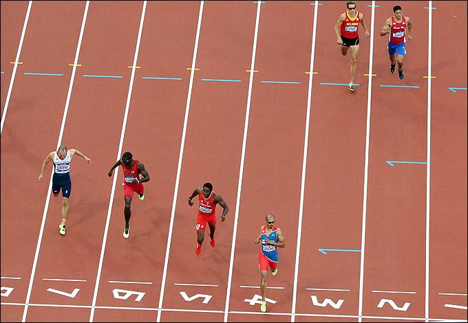 Лондон 2012 бег с барьерами 400 м