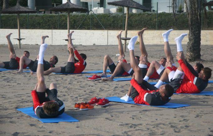 Тренировка утром