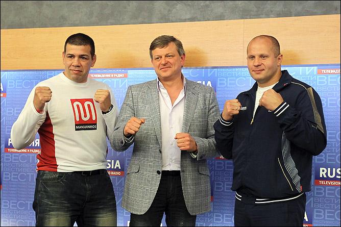 Пресс-конференция Фёдора Емельяненко и Педру Риззу