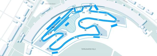Схема трассы гонки Формулы-Е в