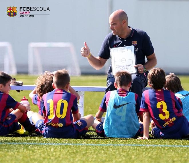 «Барселона» откроет первый в России футбольный лагерь