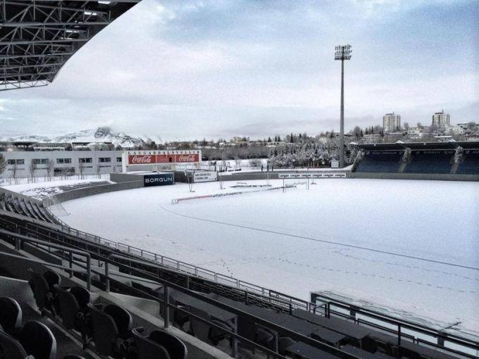 Снег помешал Исландцам в подготовке к решающему матчу с Кипром (фото)