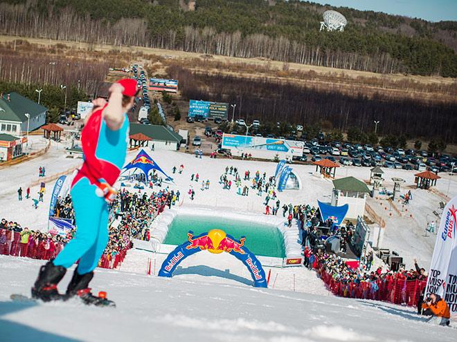 """На курорте """"Снежный"""" прошёл Red Bull Jump & Freeze"""