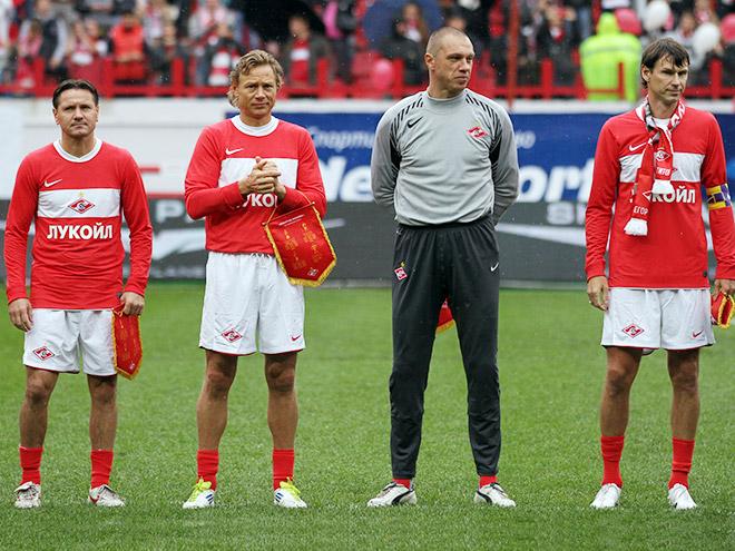 Дмитрий Аленичев, Валерий Карпин, Александр Филимонов и Егор Титов