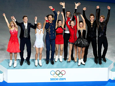 Российские фигуристы выиграли первое золото