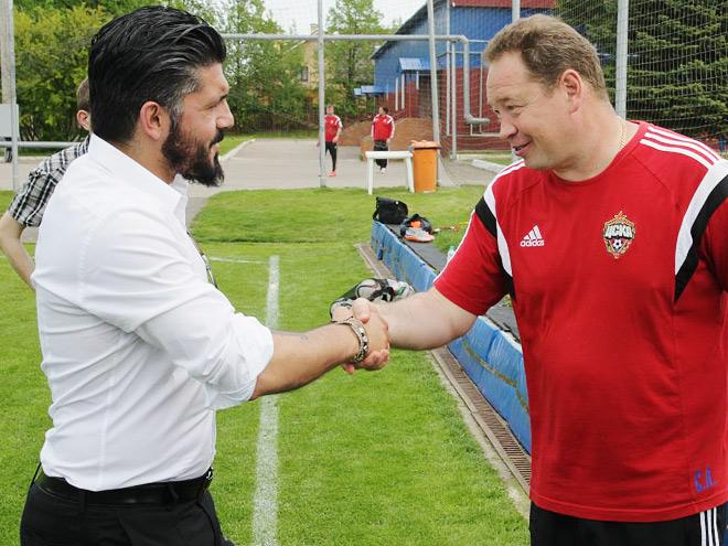 Дженнаро Гаттузо и Леонид Слуцкий