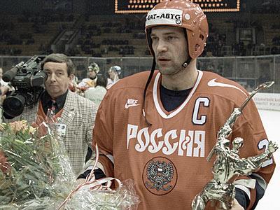 Капитан сборной России Виталий Прохоров