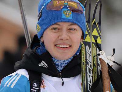Новосибирские болельщики встретили Ольгу Вилухину